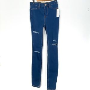 New FREE PEOPLE skinny jeans 25 ripped b519